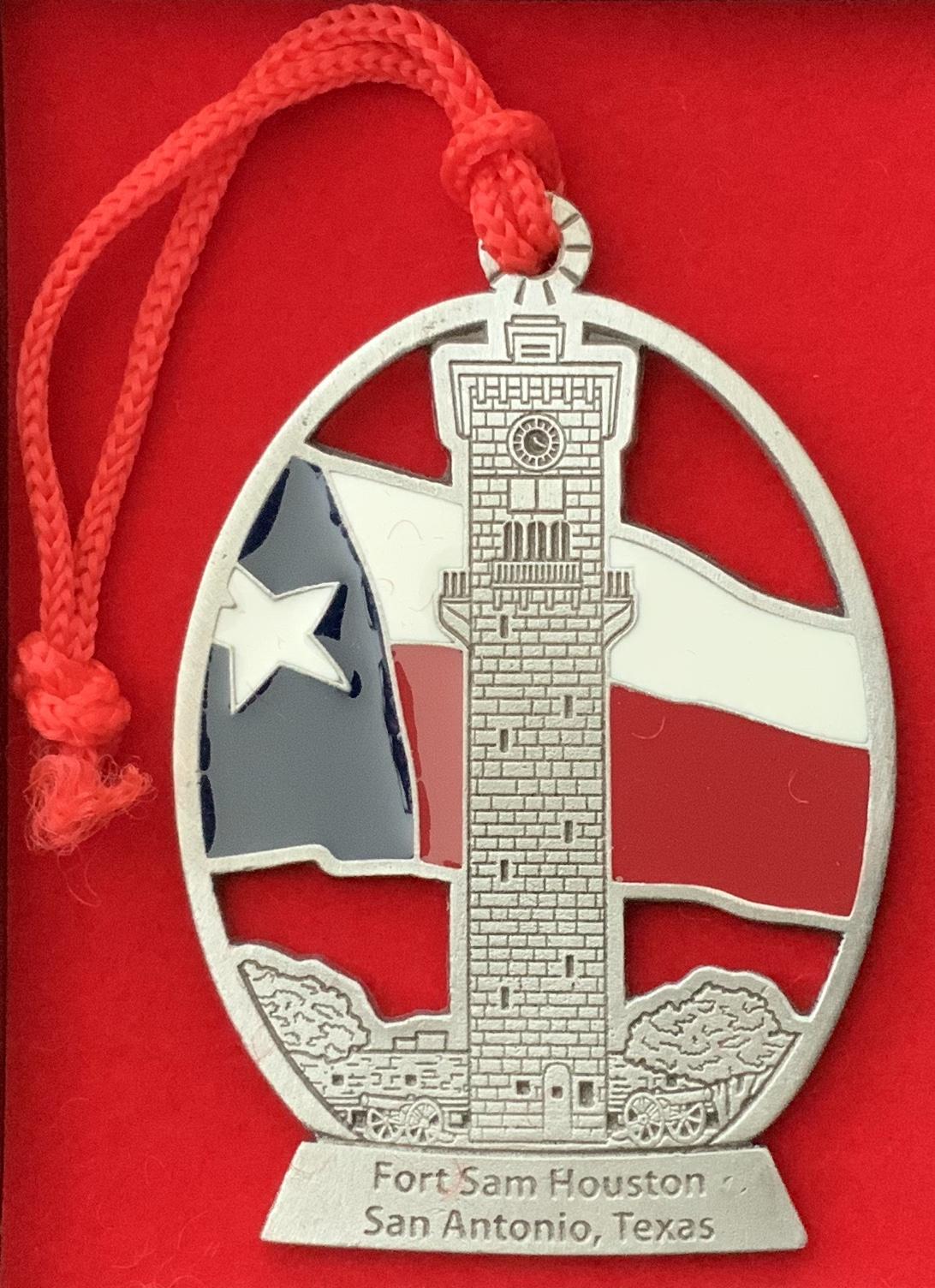 Pewter Fort Sam Houston Ornament